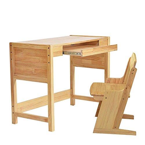 KXBYMXMesa Plegable Simple El Conjunto de la Mesa y de la Silla del Estudio de los niños, Madera Simple Puede Levantar el Escritorio de la computadora, (Color : B)