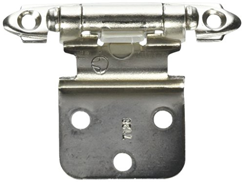 Cabinet Hinges Chrome (3/8in (10 mm) Inset Self-Closing, Face Mount Polished Chrome Hinge - 2 Pack)