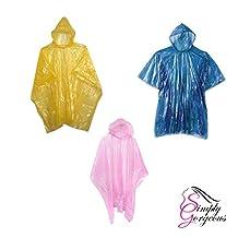 20 X Emergency Rain Poncho Waterproof Coat Cape Mac Disposable Or Reusable