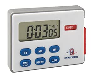Matfer Bourgeat 250602 Digital Timer with 3 Functions