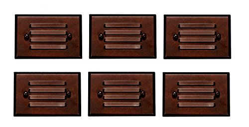 6 Pack Malibu 8406-2403-06 LED Half Brick Outdoor Deck Step Light Oil Rubbed Bronze Finish BY MALIBU DISTRIBUTION by Malibu C