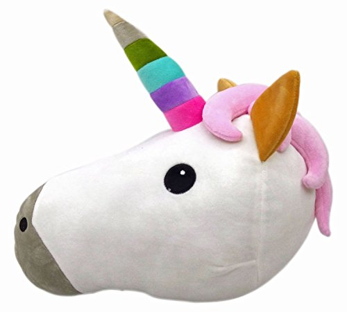 (Wemi Unicorn Stuffed Plush Pillow Toy Horse Head Cushion Toy Sleeping Pillow Bed)