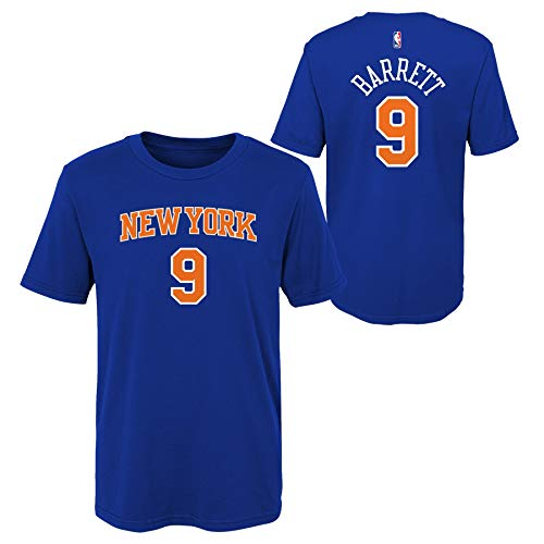 Outerstuff RJ Barrett New York Knicks #9 Royal Blue Youth Player Name & Number T-Shirt (Large 14-16) (Royal Blue Youth Players T-shirt)