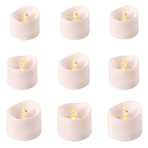 [Flameless LED tea light soft blinking light source,electronic candle for up to 100 hours,holiday light-Flameless Wax Candle for party and home ,provided by JOAIFO (12, yellow)] (Halloween Decor World Market)