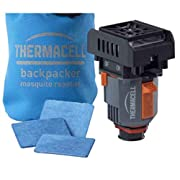 Thermacell Backpacker Mosquito Repeller, Gen 2.0; Protects 15' Zone When Attached to Camp Fuel Canister; Includes Water…