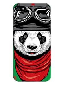 Sangu Panda Pilot Hard Back Shell Case / Cover for Iphone 5 and 5s - Green