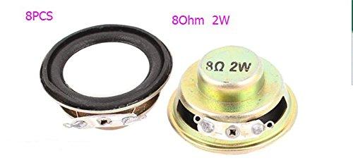 BLS 8pcs 8Ohm 2W 36mm Dia Computer Audio Woofer Speaker Horn