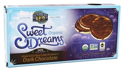 - Sweet Dreams Organic Dark Chocolate Enrobed Rice Cakes 3.17 oz (Pack of 3)