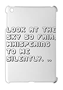 Look at the sky so fair, whispering to me silently. .. iPad mini - iPad mini 2 plastic case