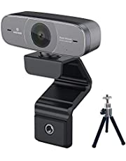 LOGITUBO Pro Stream Webcam 1080P HDR con Trípode for Videollamadas Auto Enfoque PC Cámara USB Web CAM con Micrófonos for Windows 10 Mac Xbox One OBS
