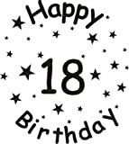 Happy 18th Birthday Black & White ~ Edible Image Cake Topper