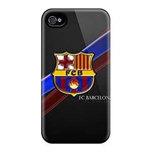 Shock Absorbent Hard Phone Cases For Iphone 4/4s With Customized HD Fc Barcelona Pictures KerryParsons