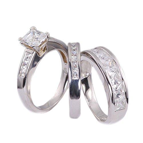 Wedding Engagement Princess Zirconia Sterling