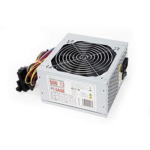 PC Case Gear EP-500 - Fuente de alimentación (500 W, 220 V, 50-60 Hz, 12 cm, Superior, 20+4 Pin ATX)