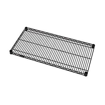 800lb NSF Quantum Single Wired Shelf for Shelving Kit Black EPOXY