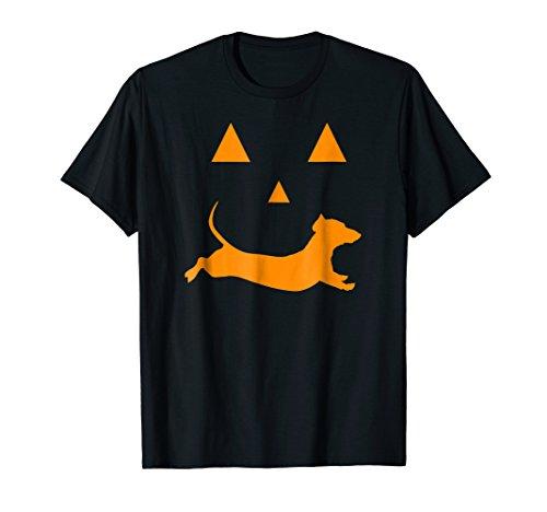 Halloween Pumpkin Dachshund Jack-o-lantern T-shirt Costume ()