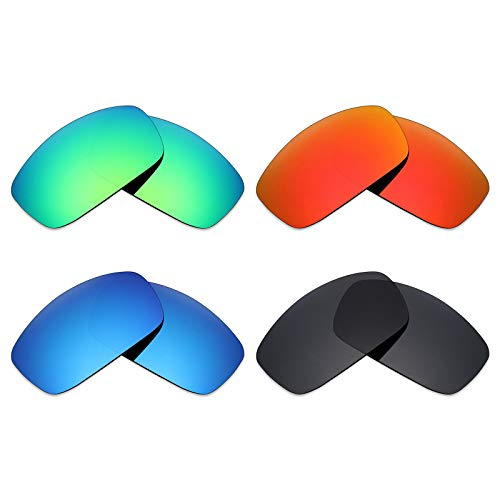 ed Replacement Lenses for Spy Optic Cooper XL Sunglass - Stealth Black/Fire Red/Ice Blue/Emerald Green ()