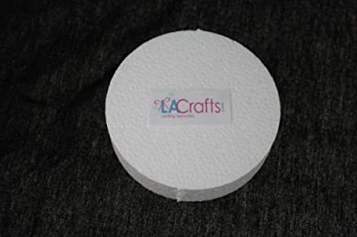 LA Crafts Brand 4x1 Inch Smooth Foam Craft Disc - 12 Pack