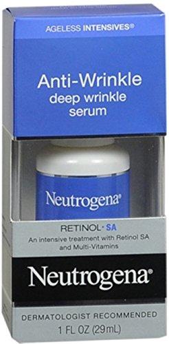 Neutrogena Ageless Intensives Anti-Wrinkle Deep Wrinkle Serum 1 oz (Pack of 3)