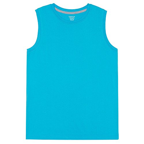 French Toast Boys' Little Sleeveless Muscle Tee, Turquoise Reef, 6