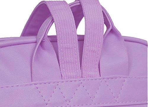 ETI Süßigkeit PU-lederner reizender Farben-Rucksack Netter Schultaschen-Schulter-Beutel für Mädchen u. Frauen
