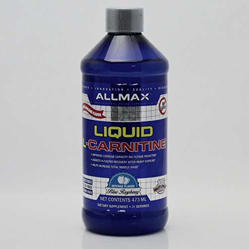 Allmax Nutrition Liquid L-Carnitine 15.9 Fl Oz Blue Raspberry Flavor