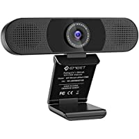 WEBカメラ eMeet C980 ウェブカメラ 1080P HD pcカメラ 360°集音AIマイク内蔵 200万画素パソコンカメラ USB接続簡単 SkypeカメラWEB会議用 ビデオ通話 生放送 目隠しカバー付き YOUTUBE Windows/Macなど対応