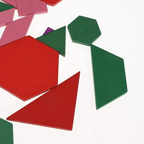 幾何学 パズル 木製 図形 子供 ジオメトリ 知育玩具 カラフル 色 形 観察能力 認識玩具