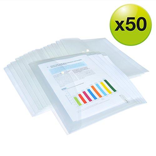 6 pezzi 6 colori buste formato protocollo cartelle per documenti Cartella portadocumenti A4 in plastica