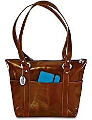 David King & Co. Florentine 6 Pocket Shopper 3543 Red, Honey, One Size