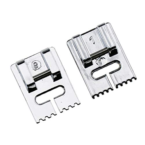 Groove Foot Pintuck 7 (STORMSHOPPING Pintuck Groove Presser Foot Set Including a 9 Groove, 7 Groove fits All Low Shank Snap-On Brother, Babylock, Euro-Pro, Janome, Kenmore, White and More)