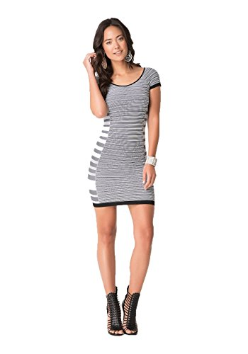 bebe-summer-stripe-cap-sleeve-dress-small