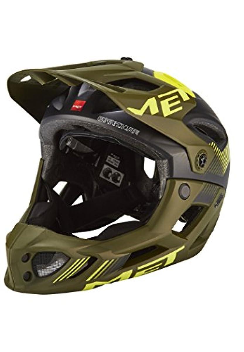 [해외] BLUEGRASS(블루 글래스) 헬멧 PARACHUTE 3HELM98M0NV 매트 블랙/그린 M
