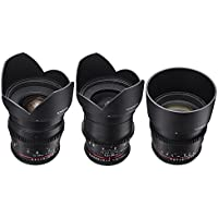 Rokinon T1.5 Super Fast Cine DS 3-Lens Kit for Micro 4/3 MFT: 24mm (DS24M-MFT) + 35mm (DS35M-MFT) + 85mm (DS85M-MFT)