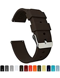 BARTON Quick Release - Choice of Colors & Widths (18mm, 20mm or 22mm) - Chocolate Brown 18mm Watch Band Strap