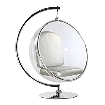 Incroyable Bubble Hanging Chair With Polished Chrome Base In Clear: Amazon.co.uk:  Kitchen U0026 Home