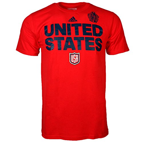 USA Hockey 2016 World Cup Of Hockey Team Font Go To T-Shirt (Red) (M)