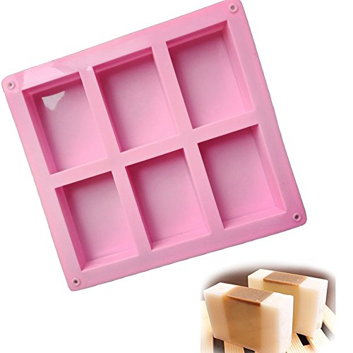 6-Cavity Rectangle Soap Silicone Mould Tray - 9