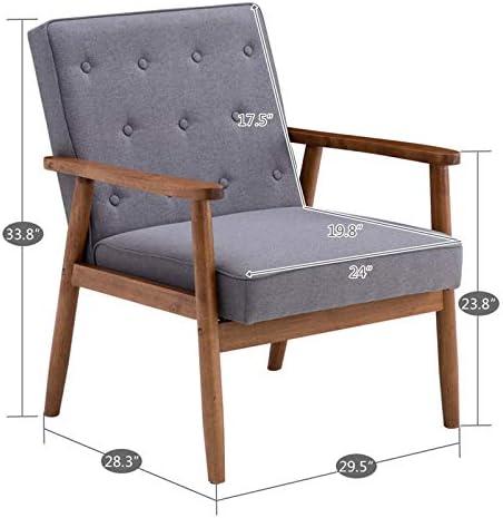 Guyanee Mid-Century Modern Accent Chair