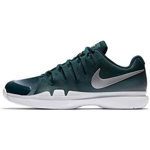 Chaussures De Tennis Nike Zoom Vapor 9.5 Tour (couleurs Hiver 2017) Dark Sarcelle Atomique / Argent Métallique