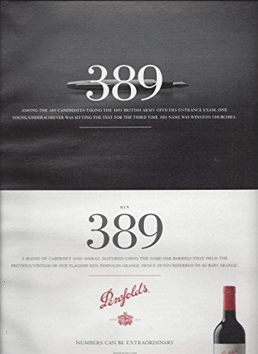 MAGAZINE ADVERTISEMENT For 2015 Penfolds Bin 389 Cabernet Shiraz Wine