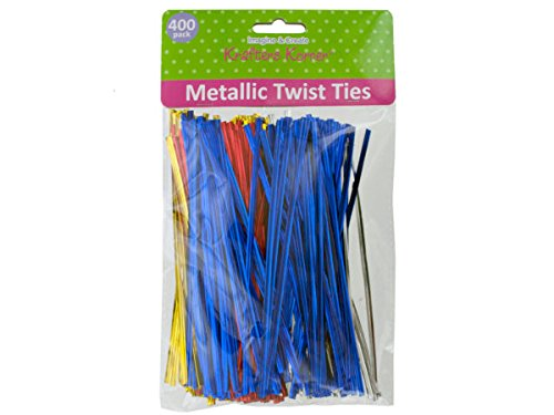 Long Metallic Craft Twist Ties Set - Pack of 60 by krafters korner (Image #1)