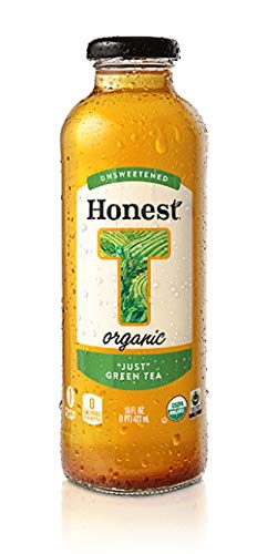 (Honest Tea Just Green Tea USDA Organic 16 oz. glass bottles 12 pack)