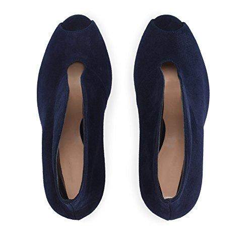 Chaussures Taille Bouche De Plateforme De Talon KJJDE Transgenre Grande Blue Mariage Haut 9 Sandales 42 Fête Poisson Club Sexy De TLJ Femme Soirée zWZvnW0O