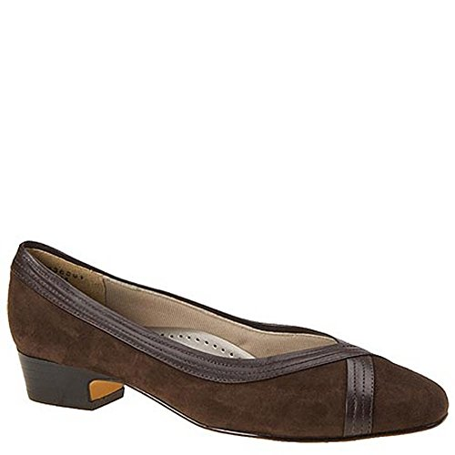 Mark Lemp Classics Womens Tracy Closed Toe Classic Pumps, Brown-Suede, Size 7.5 from Mark Lemp Classics