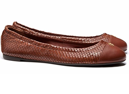 8b7d47f30 Tory Burch York Shoes Womens Leather Ballet Flats Cap-Toe Ballerina (7.5