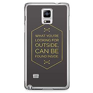 Samsung Note 4 Transparent Edge Phone Case Find Inside Phone Case Motivation 2D Note 4 Cover with Transparent Frame