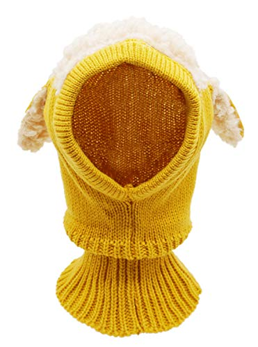 Baby Girls Boys Winter Hat Scarf Earflap Hood Scarves Skull Caps Yellow One Size