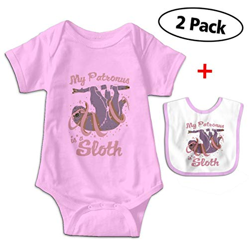 My Patronus is A Sloth Newborn Infant Baby Boys Girls Romper Bodysuit Short Sleeve Outfit Clothes One-Piece