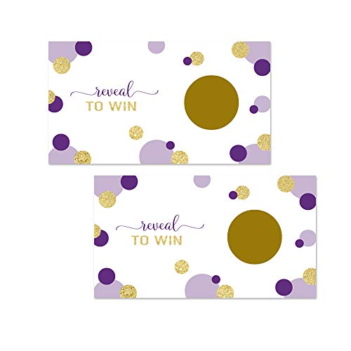 Paper Clever Party Purple and Gold Scratch Off Game - 30 Pack]()